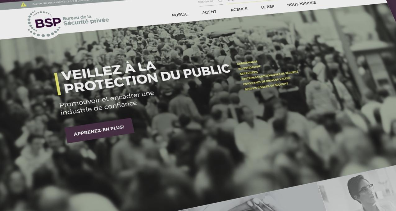 Nouveau site web bureau de la sécurité privée